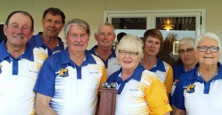 Winning team West Melton L to R: R Sadler, B Shorter, N Dunlop,  D Fitzgibbons, B Dunlop, R Pearson, J Walsh, M Bailey.