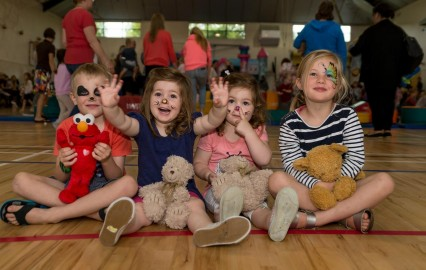 Left to Right: Elijah Tippett, Indie Higgins, Ella Higgins and Rosa Hacken enjoying a day out at the Teddy Bear's Picnic.