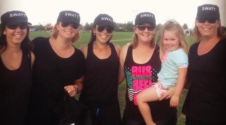 Members of the Rolleston SWATT team L to R: Rachel York, Jo Cummings, Anna Molloy,                           Katie Morris and Lee Longdin.