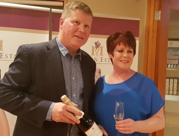 Philip and Tracy Caunter understandably incredibly proud of  their newly released Meltonia™- méthode traditionelle.