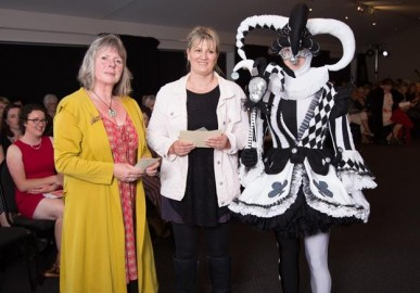 L-R: Judge Blanche Fryer with Tracey Hollands from Weedons who won the Sow's ear section.