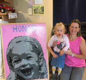 Honor and her Mum Erin Griffiths.