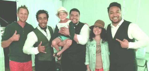 Bobby Forest, Moses Mackay, Pene Pati with Darcy Forest, Lorelai Forest and Amitai Pati.