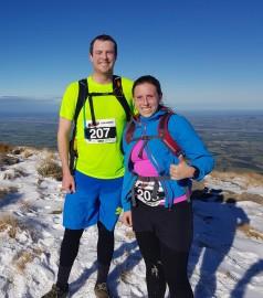Katelyn and Ruben Costello on Mt Oxford.