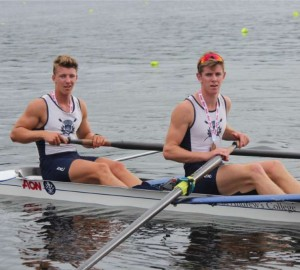 Zack Rumble with West Melton's Ben Taylor - Ben is currently representing New Zealand in U23 Rowing held in Poland - he featured last year in the News as he headed off to the 2017 World Rowing Junior Champs.