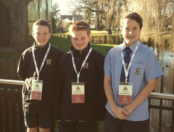 Jacob O'Connell, Finn Clark and Will Hodgson. Proud Cantab boys competing in a worldwide academic competition.