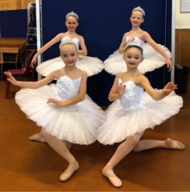 The Classical Team was awarded 1st Place.  Back L to R: Tamison Soppet, Mia Helps.  Front L to R: Charlotte Maley, Mila Francis.