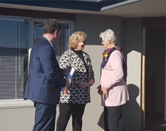 Mayor Sam Broughton,  Kate Reid and Judy Blair  at the opening.