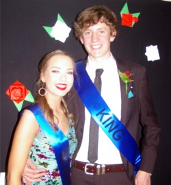 King & Queen (Yr 13) Jaymee Burrows & Harry Pooler.