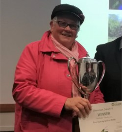 Olive Webb with the Diana Isaac Cup.