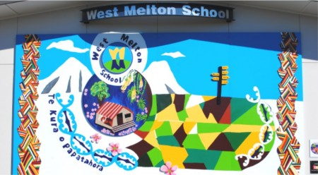 Above: The mural which was unveiled at West Melton School on Friday, March 29th.