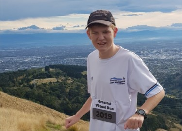 Nathan Carter who, along with his mother Bridget, completed his Greatest Virtual Run at Easter.